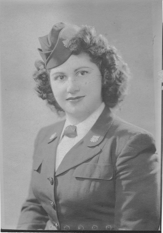 My mother, Grace Bruno Cardamone, in her Coast Guard uniform during WWII
