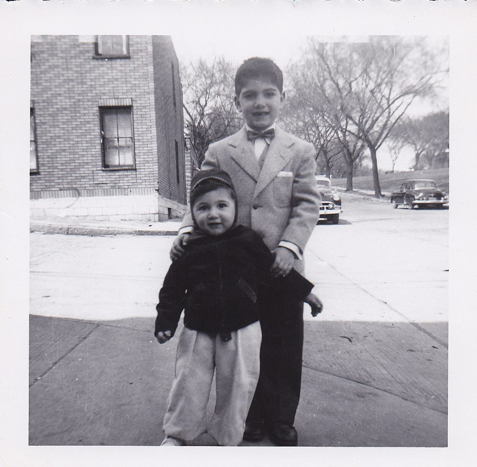 My brother and me, circa 1955