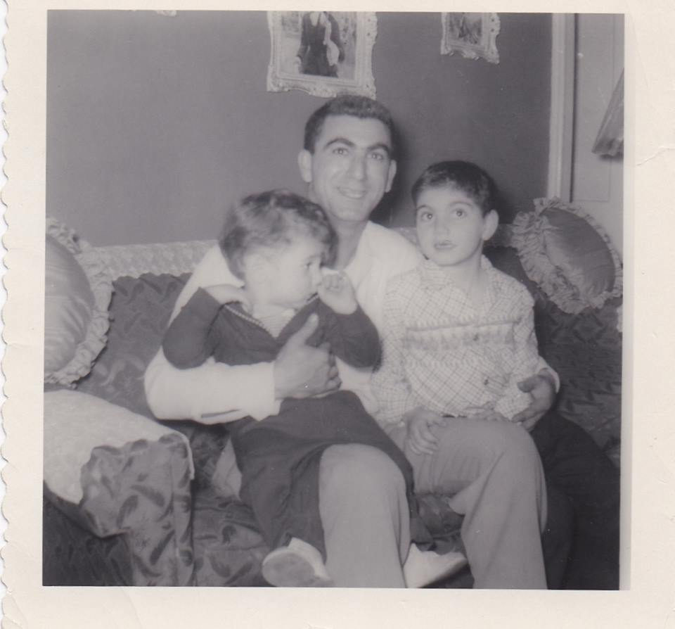 My brother, my father and me, circa 1954