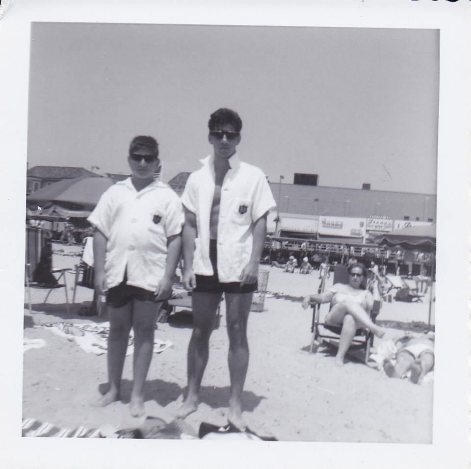 My brother and me at Atlantic City, circa 1965