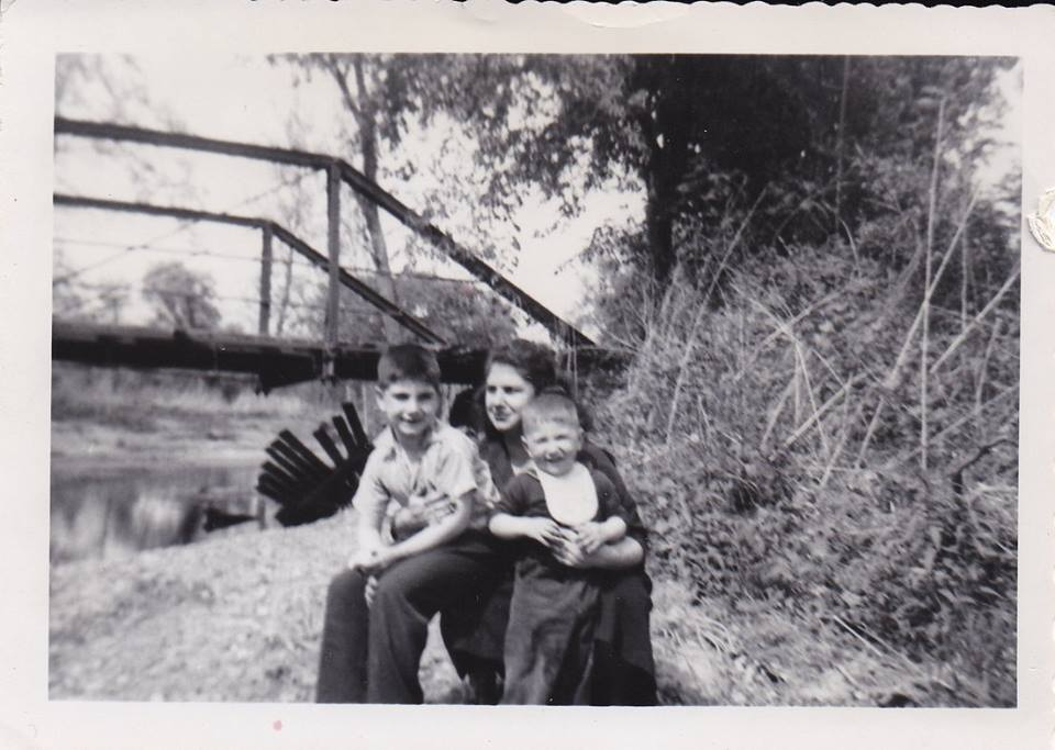 Me, my mother and my brother, circa, 1955