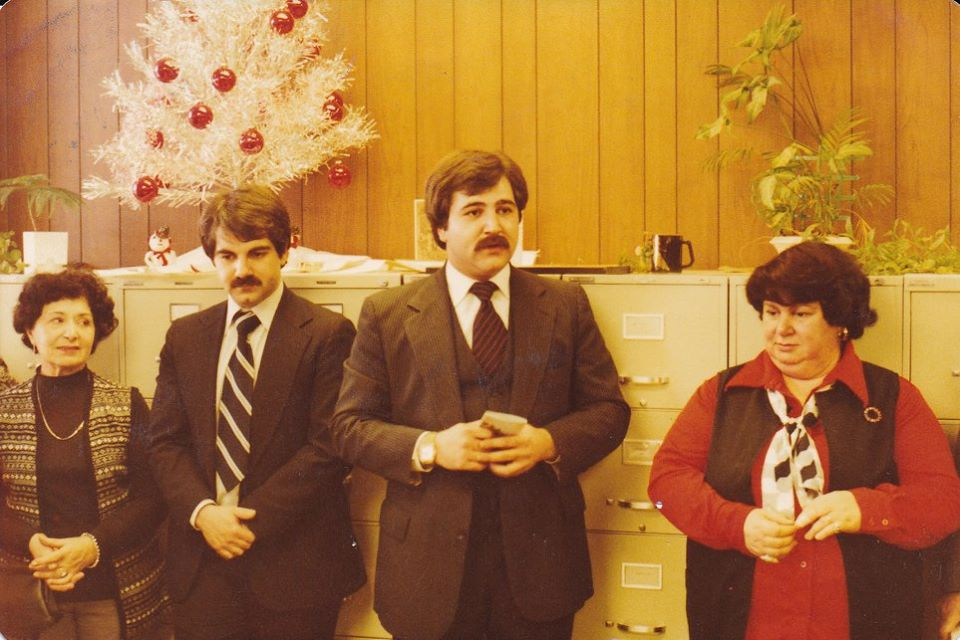 My brother with me, my Aunt Mill and my mother at the swearing in ceremony, 1975