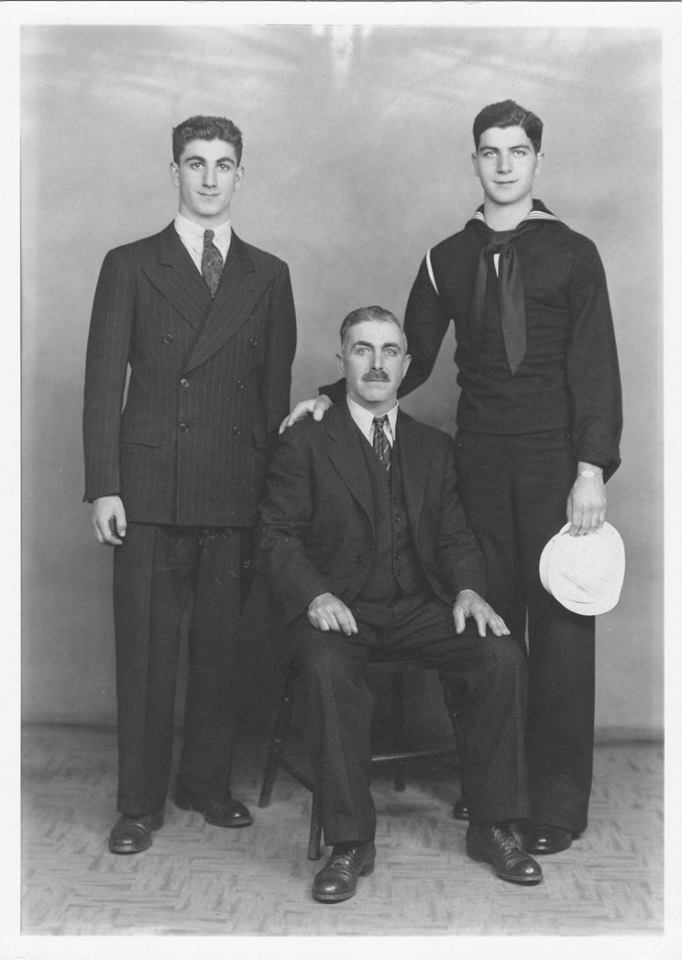 My father, Rosario Cardamone; my Grandfather, Giuseppe (Joseph) Cardamone; and my Uncle, Frank Cardamone. During the early 1940s.