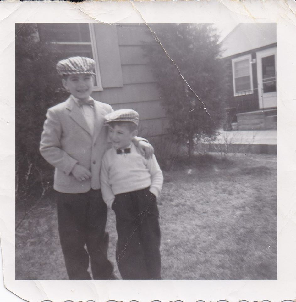 My brother and me, circa 1958