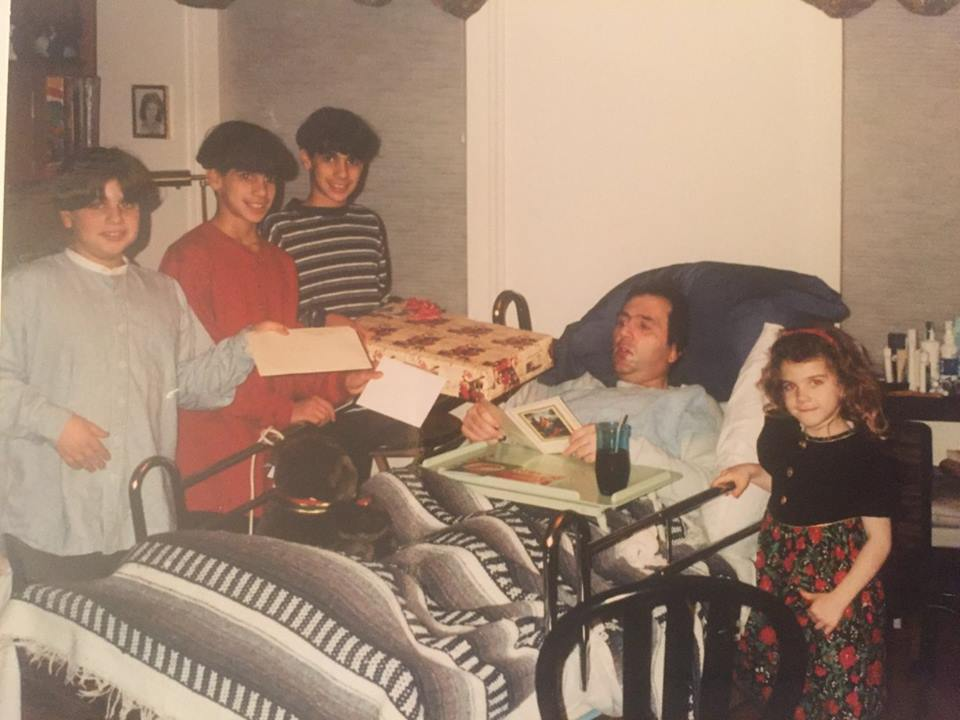 Christmas Eve at my brother's home, 1995