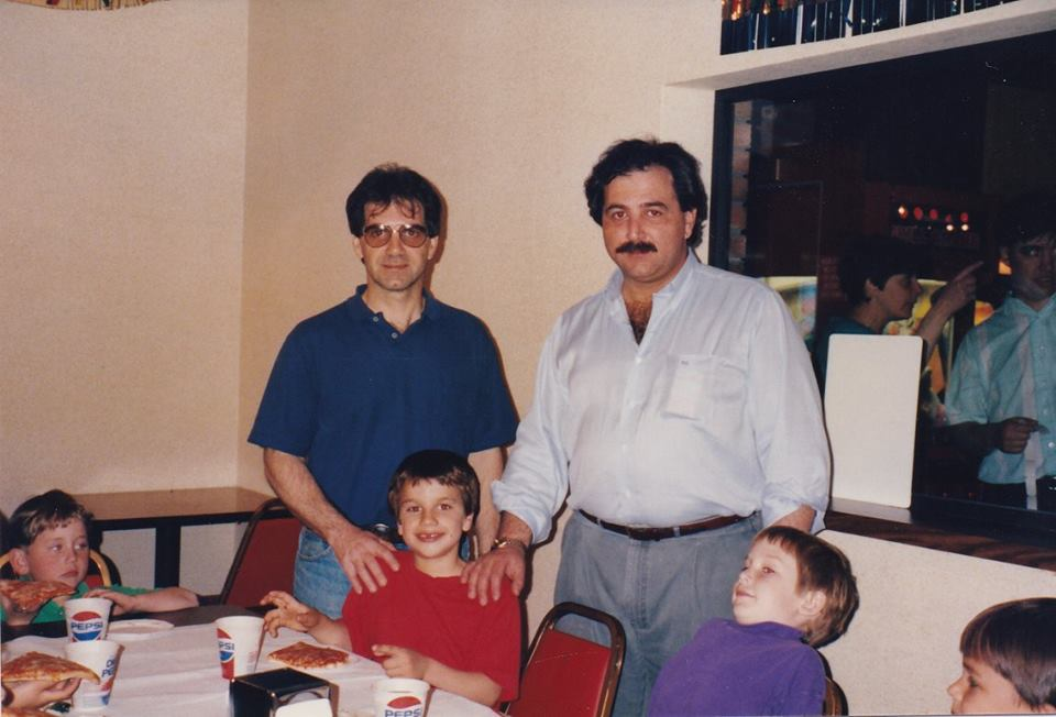 At my son's birthday party, 1992