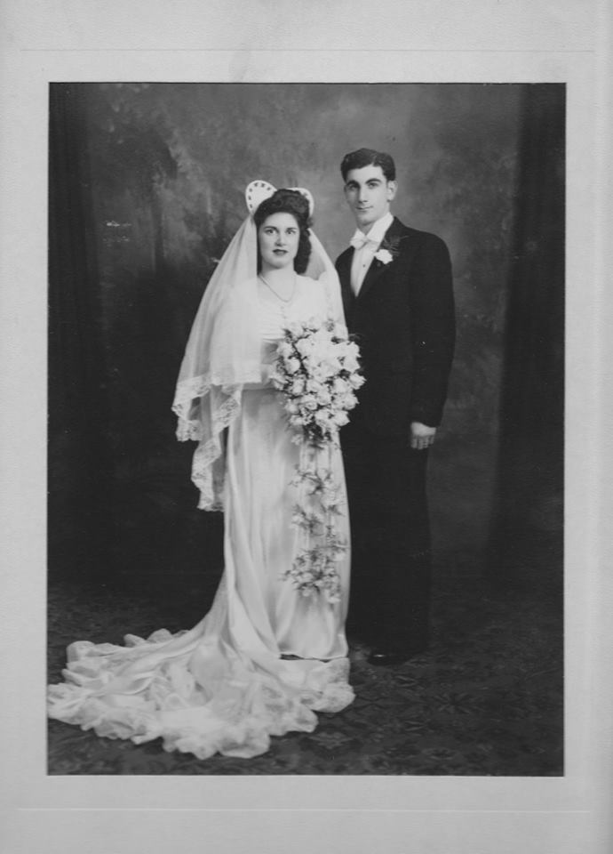 My parents' wedding day, May 4, 1947
