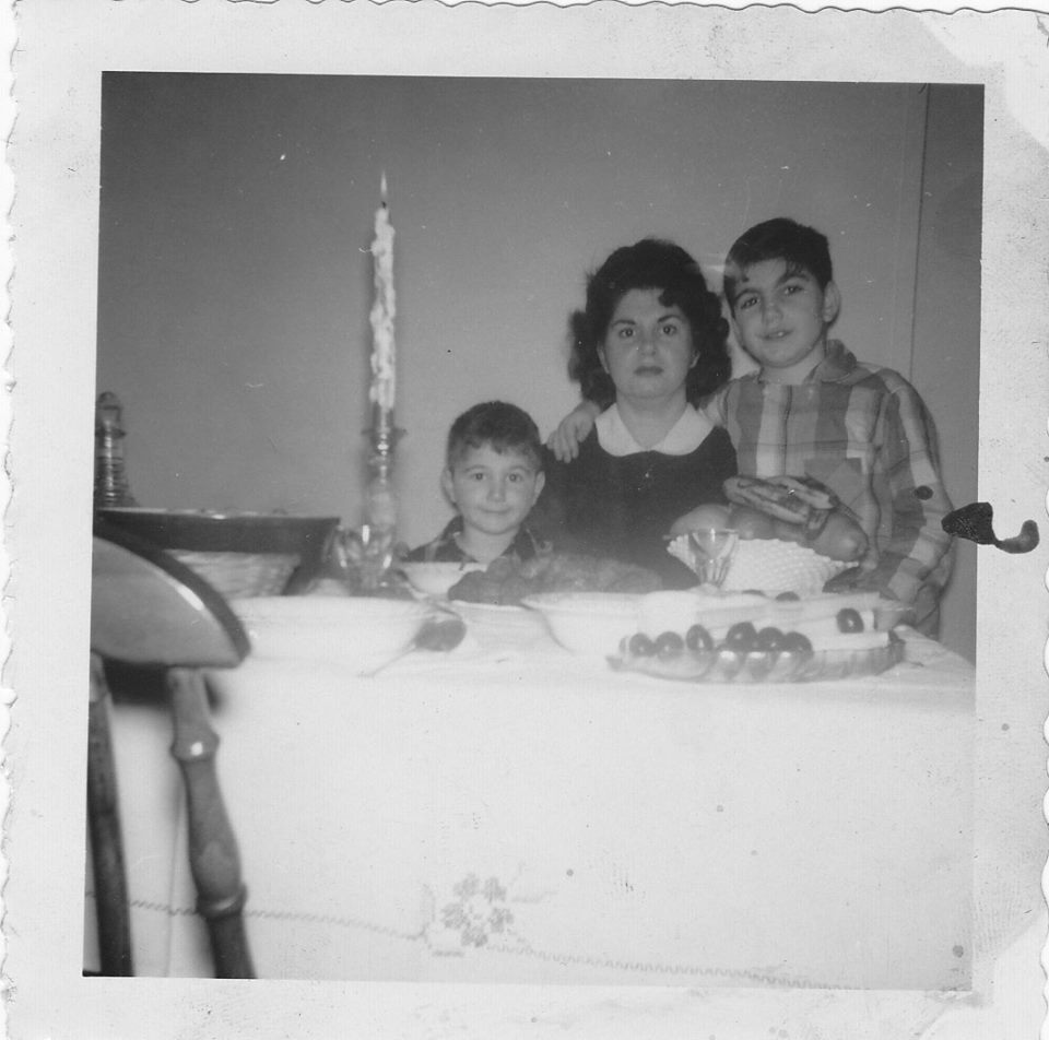 My brother, my mother and me, circa 1957