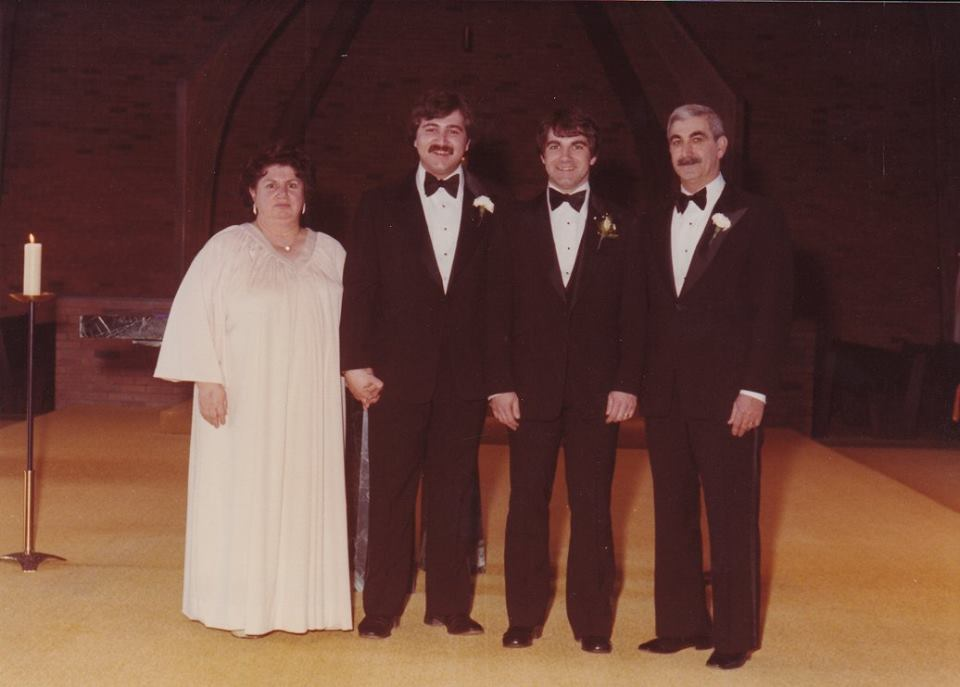 Wedding photo with me, my brother and my parents, 1979