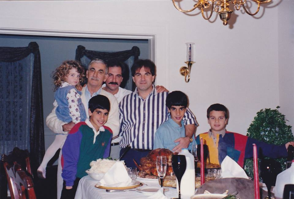 Thanksgiving at my brother's home, 5 months after my mother died, 1993